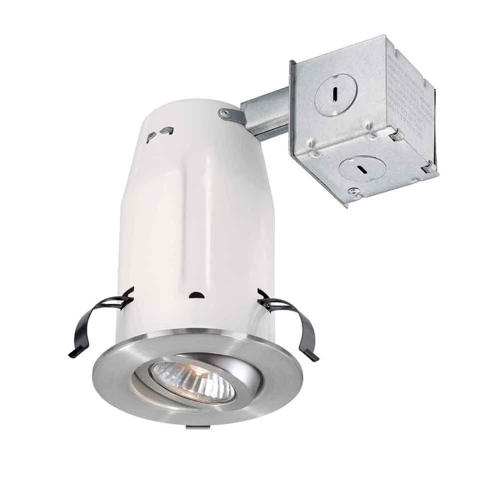 Commercial Electric 3 in. Brushed Nickel Recessed Gimbal Kit