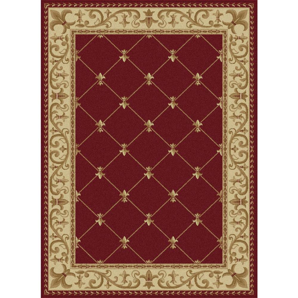 Tayse Rugs Elegance Red 7 Ft 6 In X 9 Ft 10 In