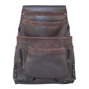 10-Pocket Oil Tanned Leather Nail and Tool Pouch