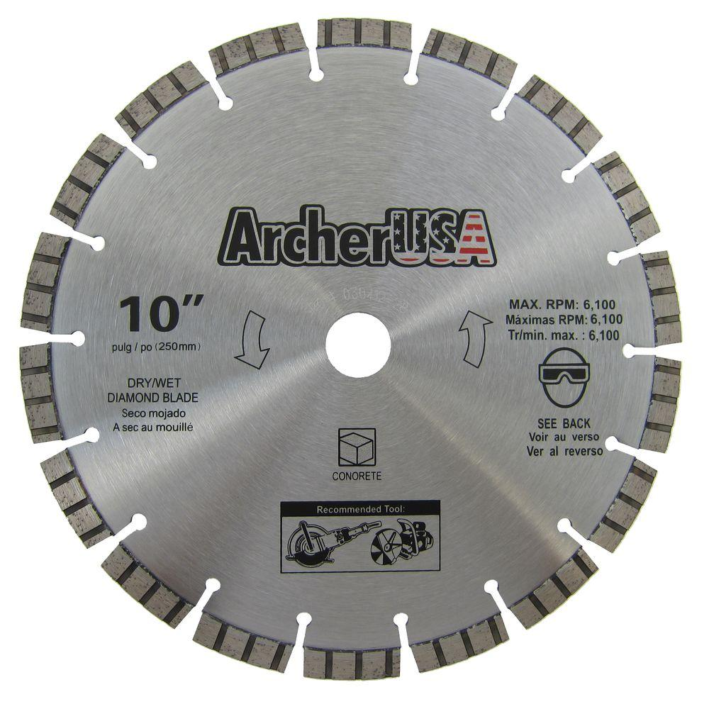 Archer USA 10 in. Diamond Blade for Concrete Cutting