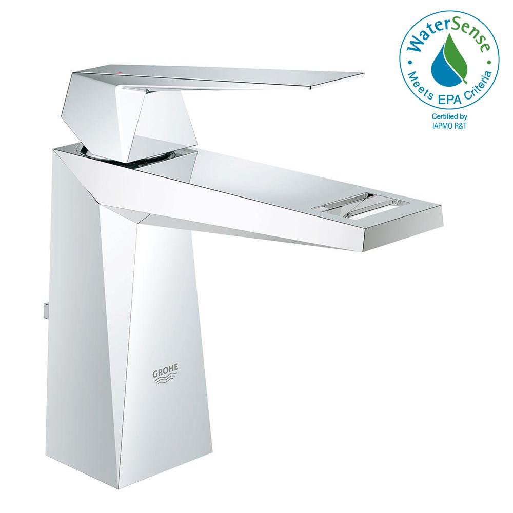 GROHE Allure Brilliant Single Hole Single-Handle Lavatory Faucet in ...
