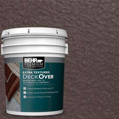 5 gal. #PFC-25 Dark Walnut Extra Textured Solid Color Exterior Wood and Concrete Coating