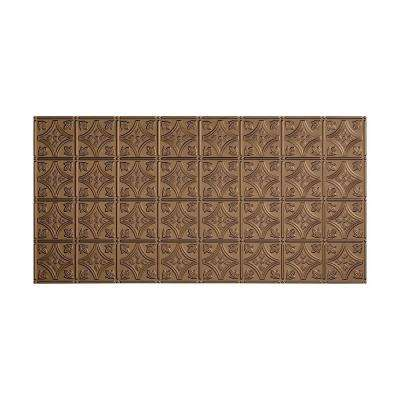 Traditional 1 - 2 ft. x 4 ft. Glue-up Ceiling Tile in Argent Bronze