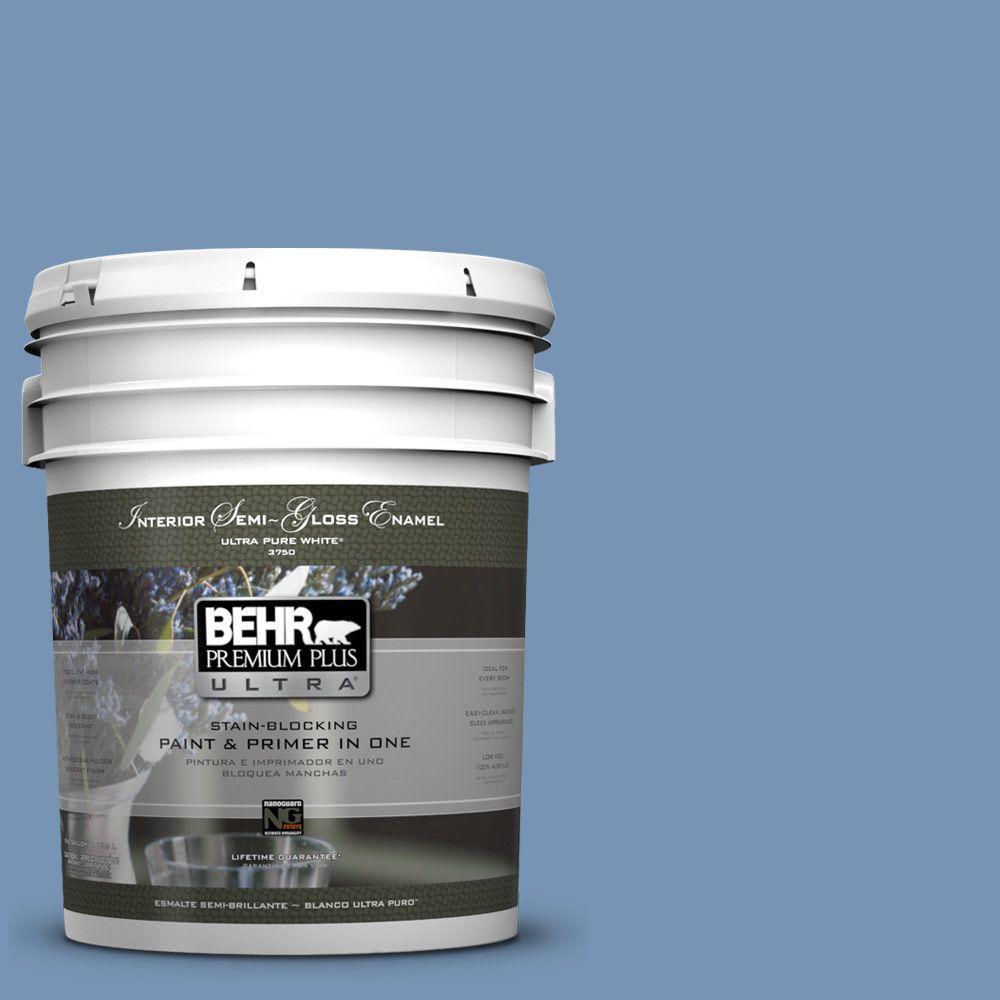 BEHR Premium Plus Ultra 5-gal. #580D-5 Ocean Ridge Semi-Gloss Enamel Interior Paint