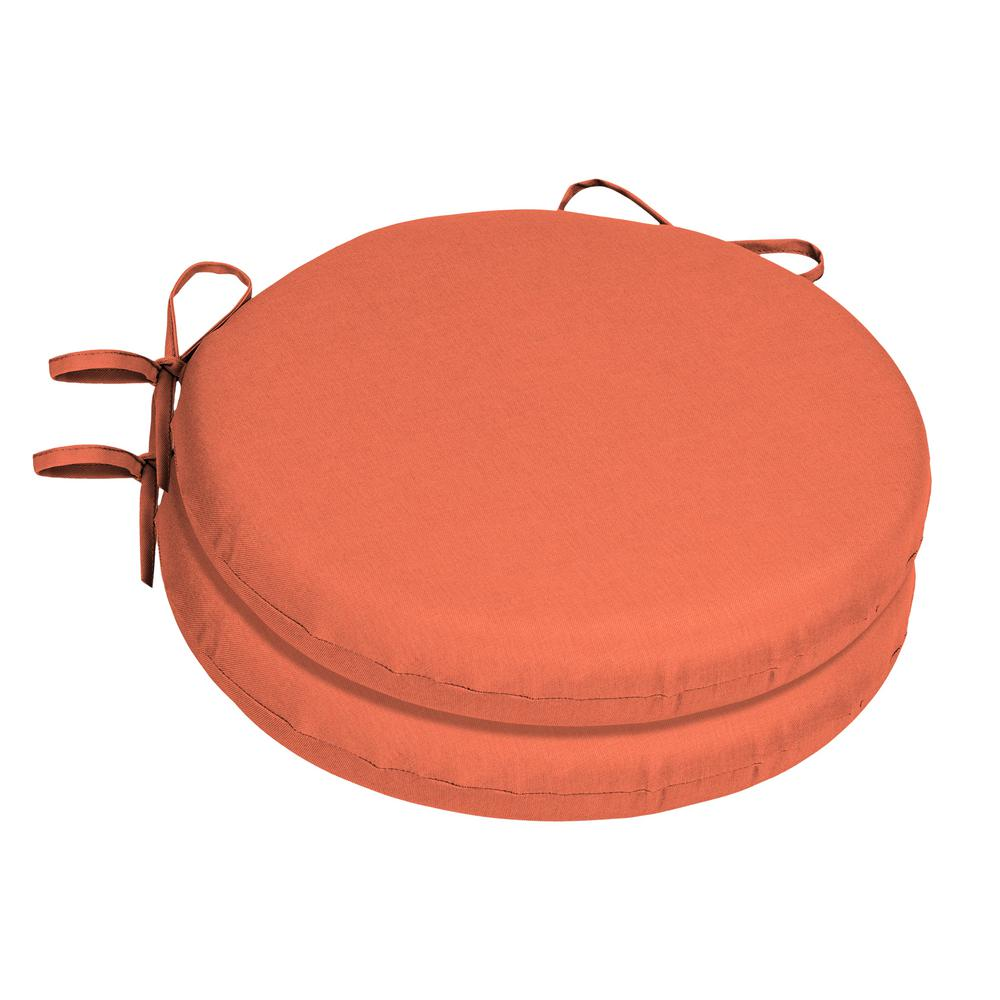 Home Decorators Collection 15 X 15 Sunbrella Canvas Melon Round