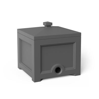 Fairfield Garden Hose Bin in Graphite Grey