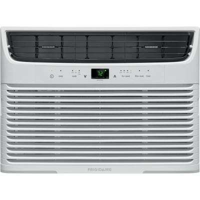 8,000 BTU Window-Mounted Room Air Conditioner with Remote in White