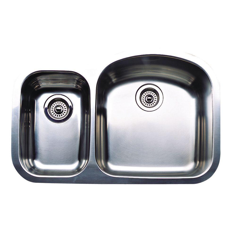 Blanco Wave Plus Undermount Stainless Steel 32 in. 1-1/2 ...