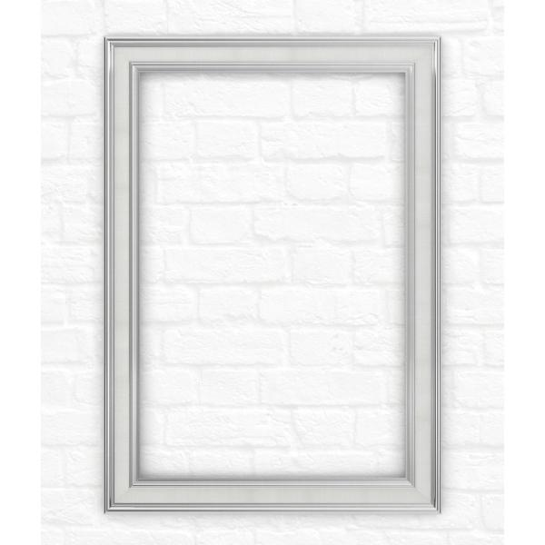 29 in. x 41 in. (M3) Rectangular Mirror Frame in Chrome and Linen