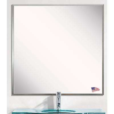 24.125 in. x 24.125 in. Romeo Silver Sheen Square Vanity Wall Mirror