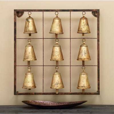 32 in. x 32 in. Bell Design Wall Hanging