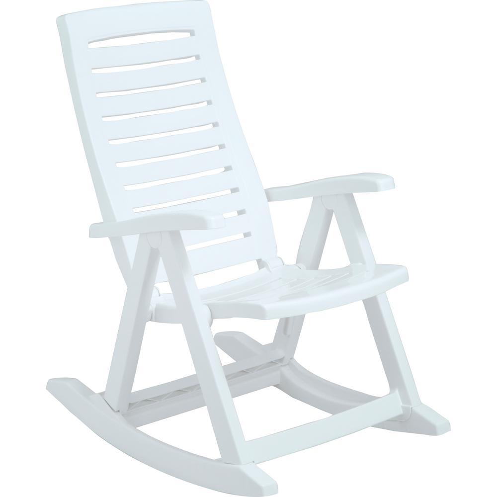 Rimax White Plastic Rocking Chair