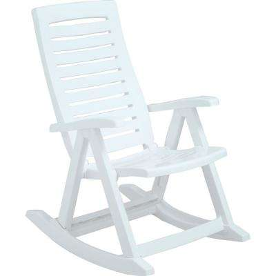 Rimax White Plastic Rocking Chair