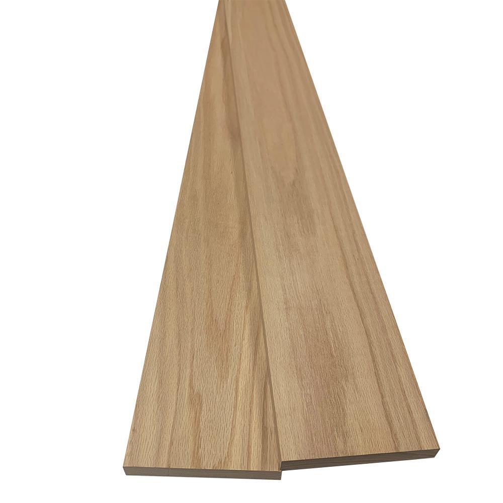 1 in. x 6 in. x 8 ft. Red Oak S4S Board (2-Pack)