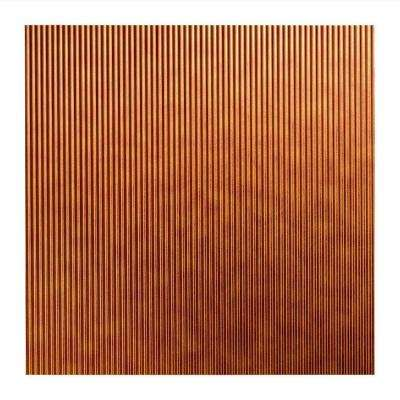 Rib - 2 ft. x 2 ft. Lay-in Ceiling Tile in Antique Bronze