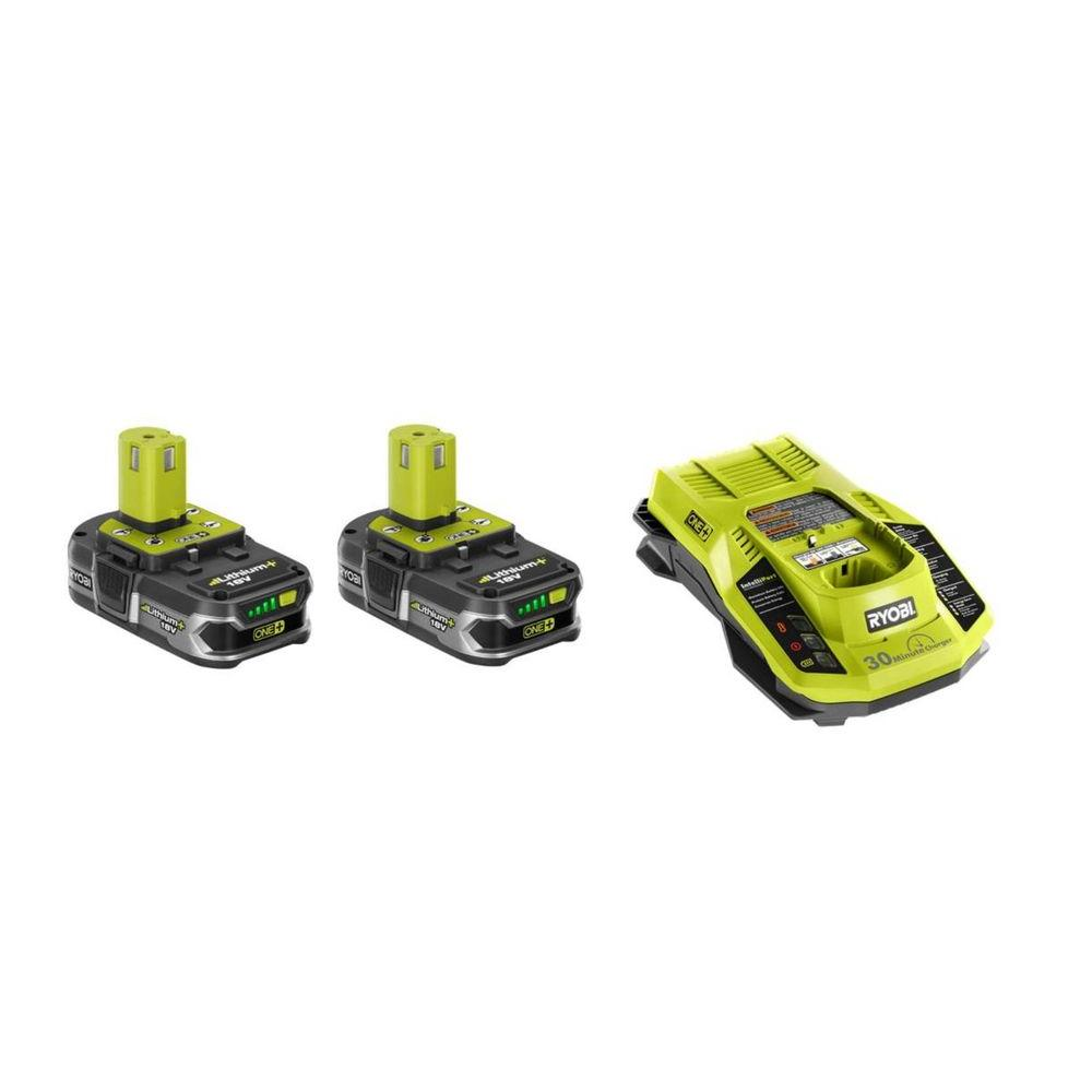 18-Volt ONE+ 2-Pack Lithium-Ion Lithium+ Batteries 1.5Ah and Dual Chemistry