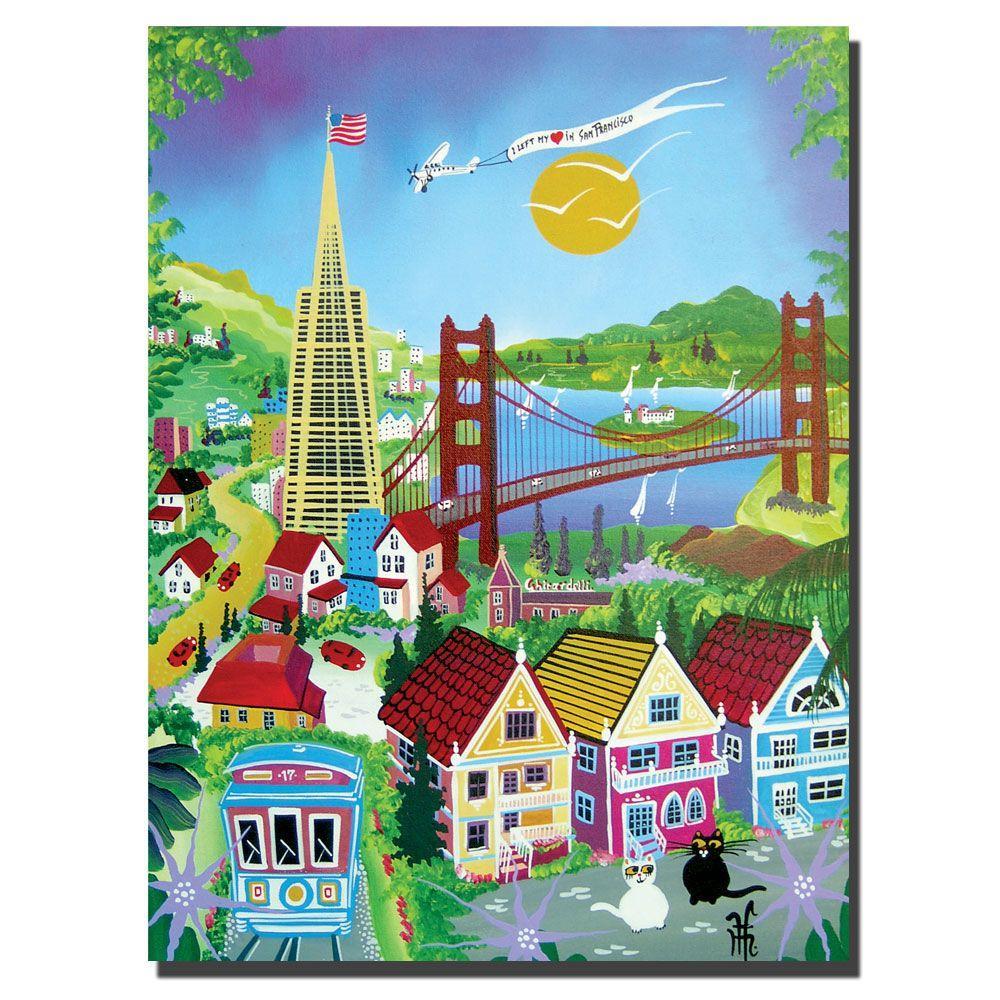 Trademark Fine Art 18 in. x 24 in. San Francisco Canvas Art