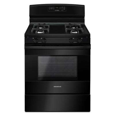 5.0 cu. ft. Gas Range in Black
