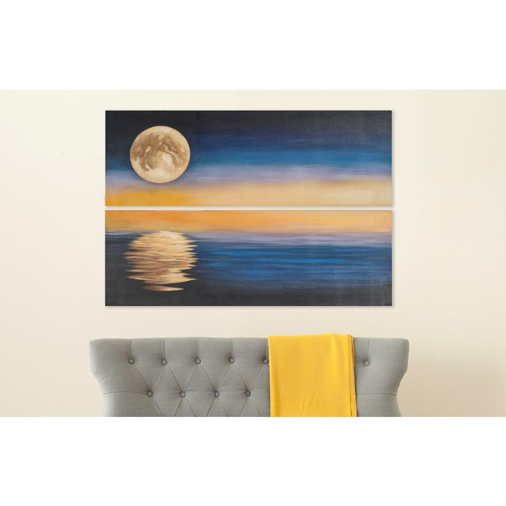 "48 in. x 16 in. ""Moonscape"" Wall Art"