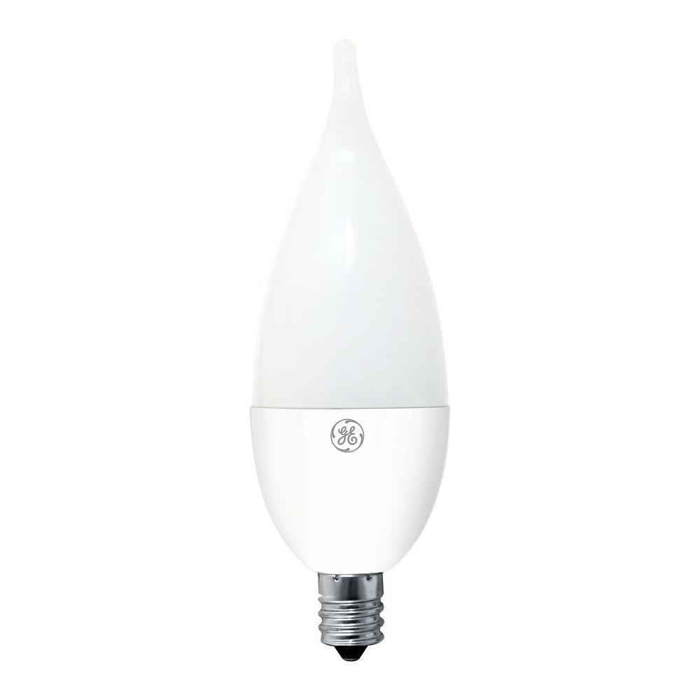 Led Light Bulb Candelabra Base: GE 40W Equivalent Soft White CA11 Bent Tip Candelabra Base
