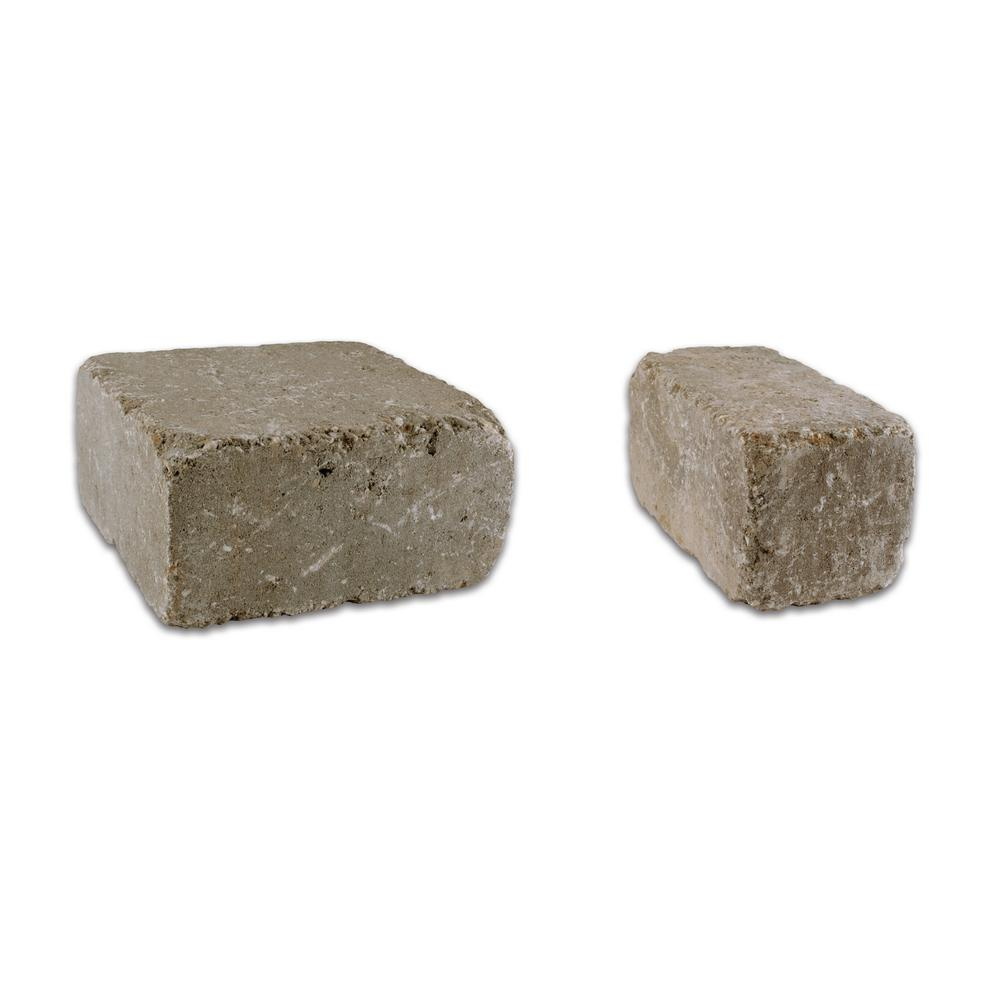 Rockwood Retaining Walls Lakeland II 8 in. L x 12 in. W x 4 in. H Bluestone Set Tumbled Concrete Wall Block (20-sets/6.5 sq. ft./pack)