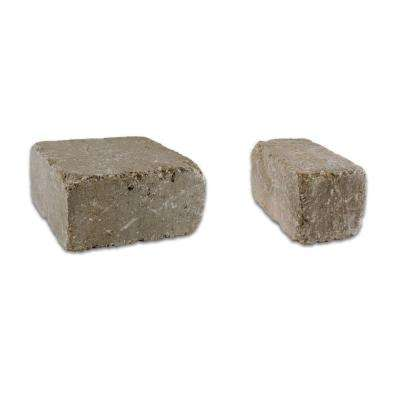 Lakeland II 8 in. L x 12 in. W x 4 in. H Desert Set Tumbled Concrete Wall Block  (20-sets/6.5 sq.ft./pack)