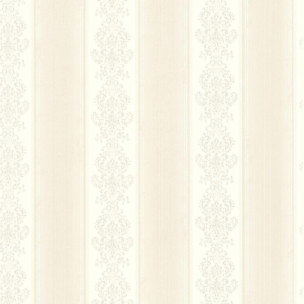Chesapeake Eastport Ivory Arabelle Stripe Wallpaper Sample SRC113010SAM