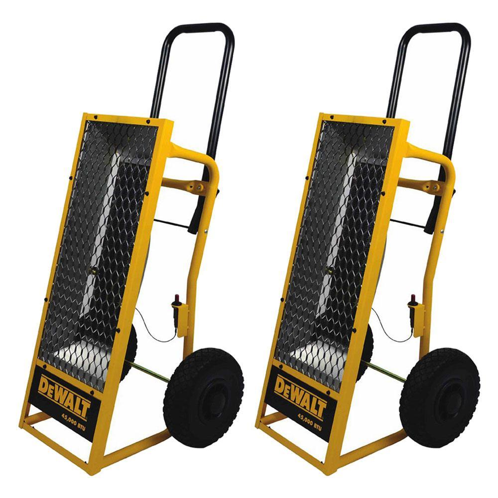 45000 BTU Heavy-Duty Radiant Propane Portable Job Site Heater (2-Pack)