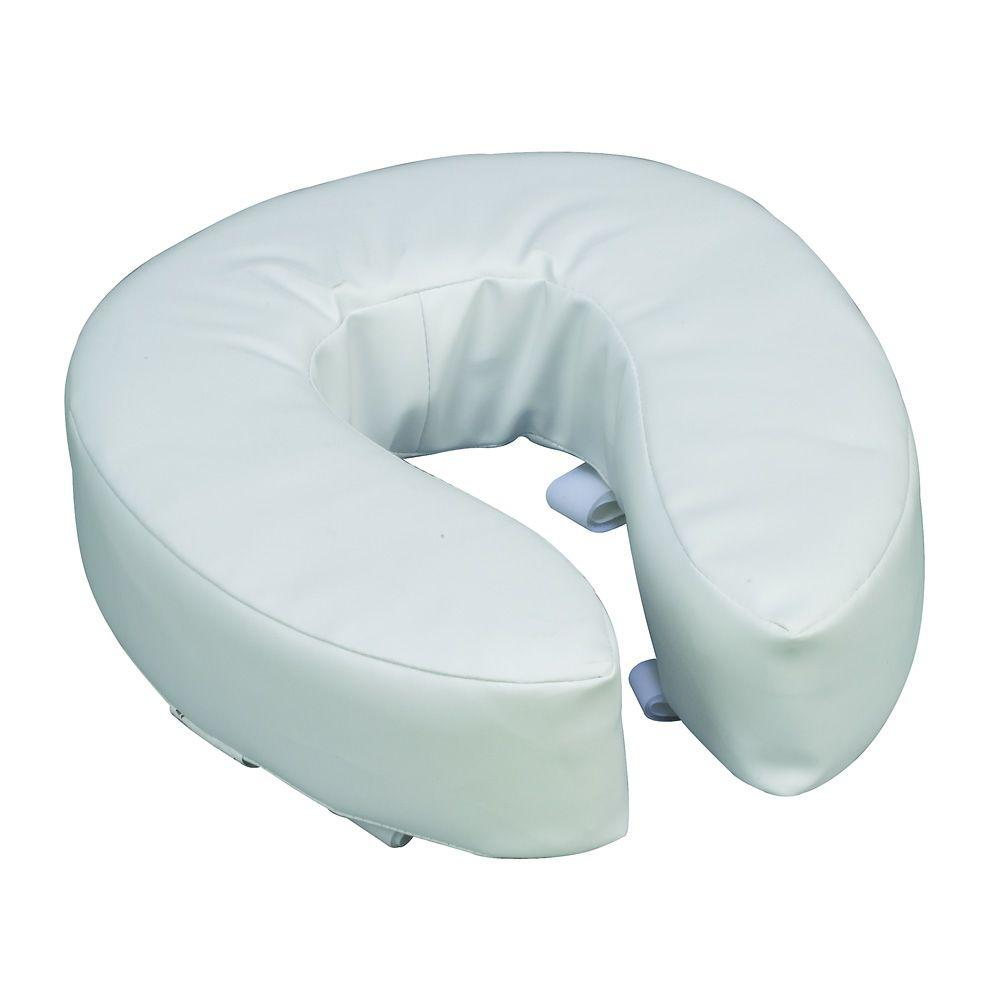 Dmi Vinyl Cushion 4 In Round Front Toilet Seat White