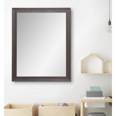 Large Rectangle Brown Hooks Casual Mirror (40.5 in. H x 31.5 in. W)