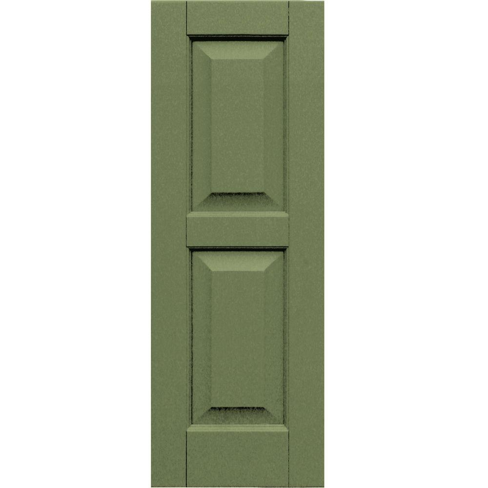 Winworks Wood Composite 12 in. x 34 in. Raised Panel Shutters Pair #660 Weathered Shingle