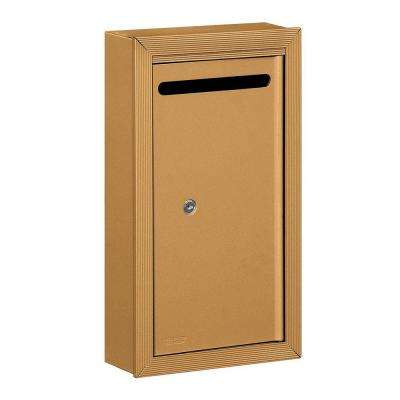 2260 Series Brass Slim Surface-Mounted Private Letter Box with Commercial Lock