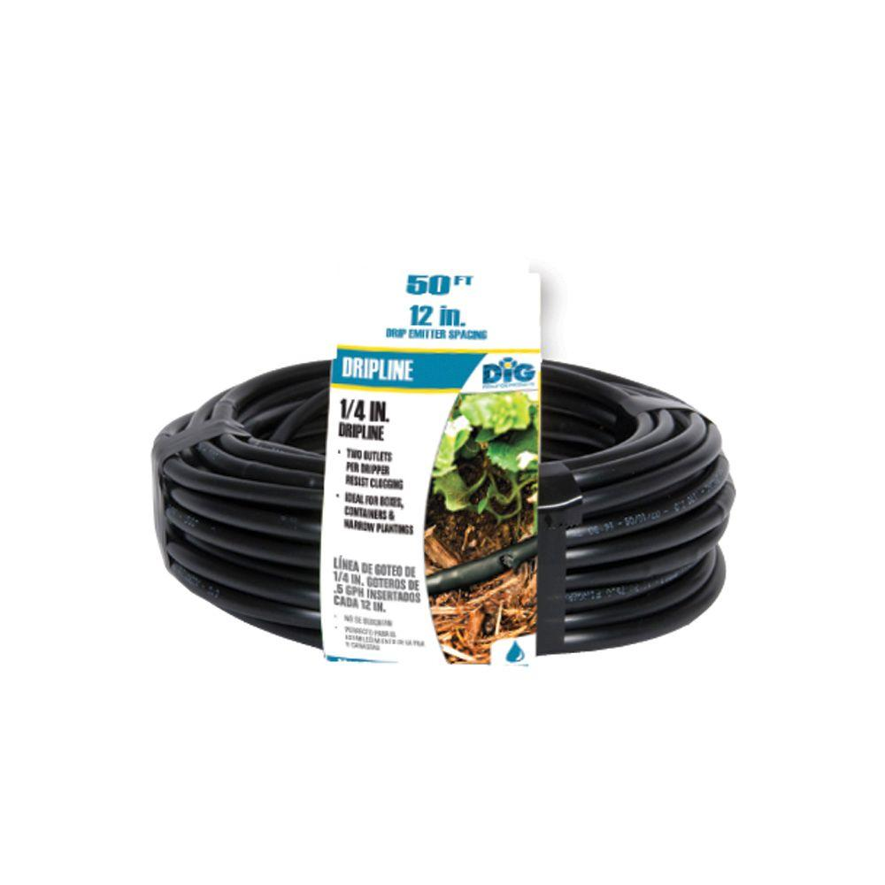DIG 1/4 in. x 50 ft. Soaker Hose Dripline