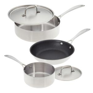 American Kitchen Single and Loving It 5-Piece Stainless Steel Cookware Set by American Kitchen