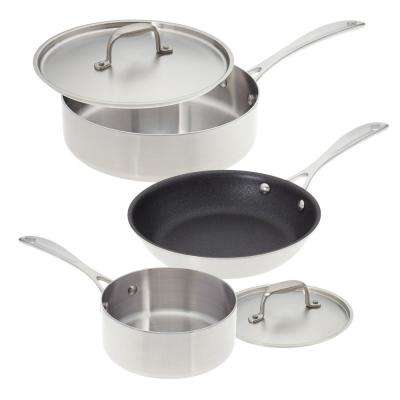 Single and Loving It 5-Piece Stainless Steel Cookware Set