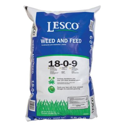 50 lb. Weed and Feed Professional Fertilizer 18-0-9