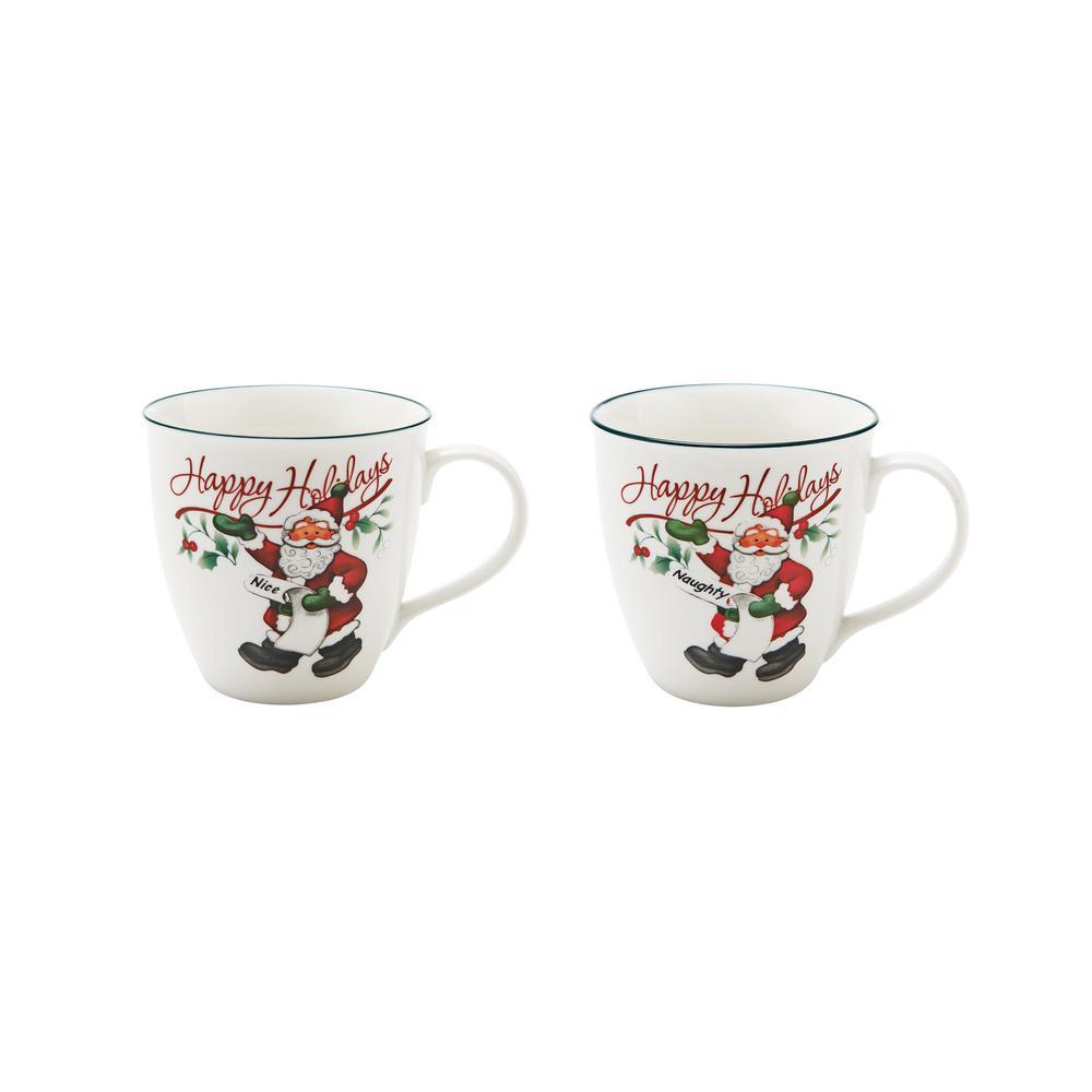 Assorted Naughty and Nice Coffee Mugs (Set of 2)