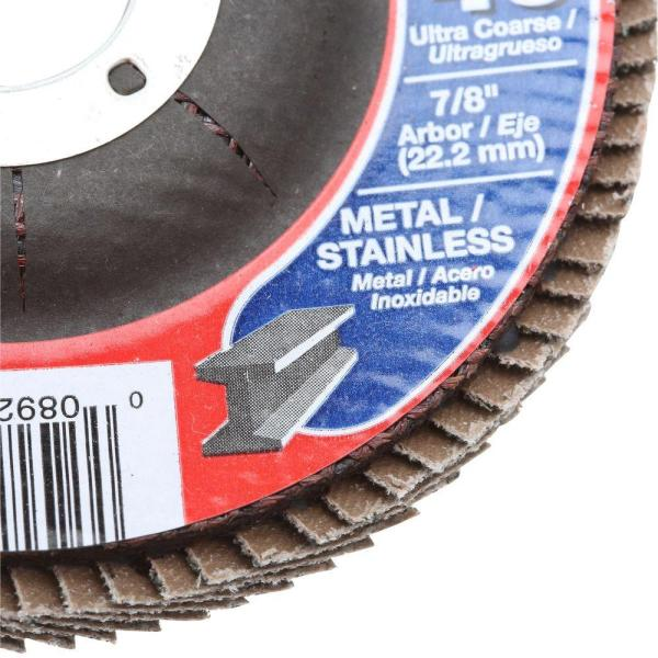 Non-Loading Flap Disc 4-1//2 x 5//8-11 Grit 40 Grinding Disc for Angle Grinder Pack of 10 ALU40 T27 Bullard Abrasives 35284 Max Force Performance
