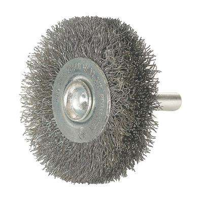 3 in. x 1/4 in. Shank Crimped Wire Wheel Brush