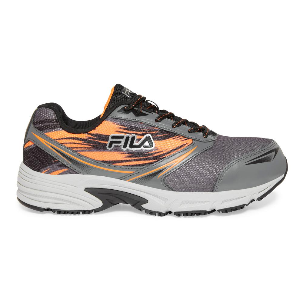 Fila Men's Memory Meiera 2 Slip Resistant Athletic Shoes Composite Toe Orange Size 11(M)