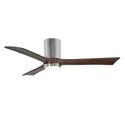 Irene 52 in. LED Indoor/Outdoor Damp Polished Chrome Ceiling Fan with Remote Control, Wall Control