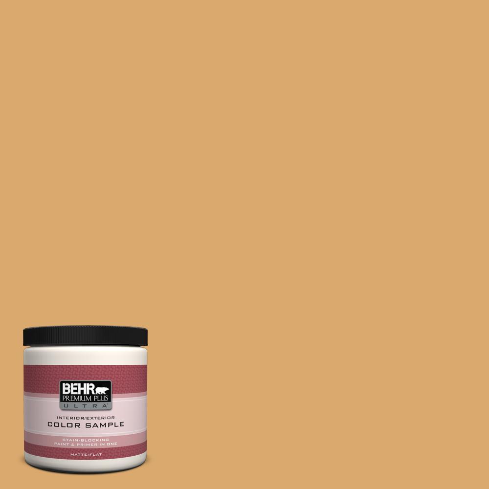 BEHR Premium Plus Ultra Home Decorators Collection 8 oz. #HDC-FL13-2 Corn Maze Flat/Matte Interior/Exterior Paint Sample