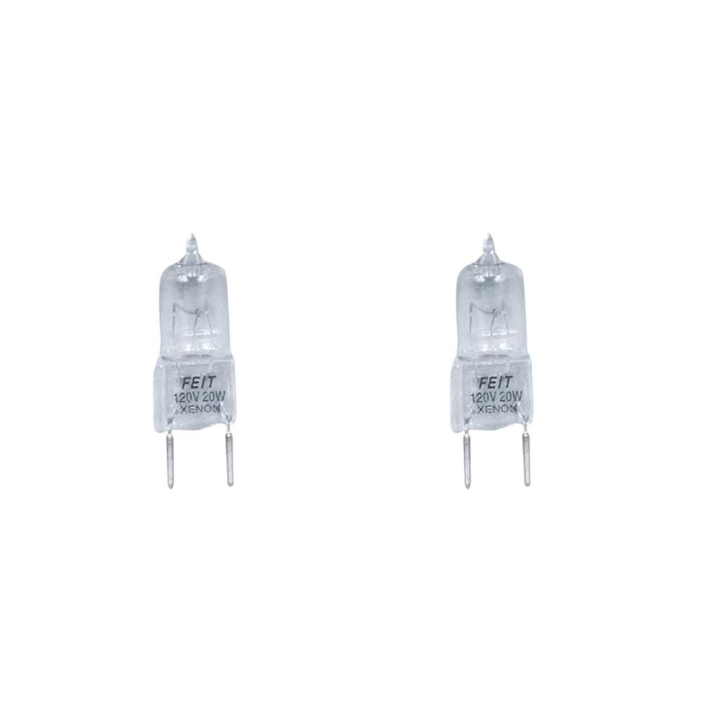 Feit Electric Xenon 20-Watt Halogen G8 Light Bulb (2-Pack)
