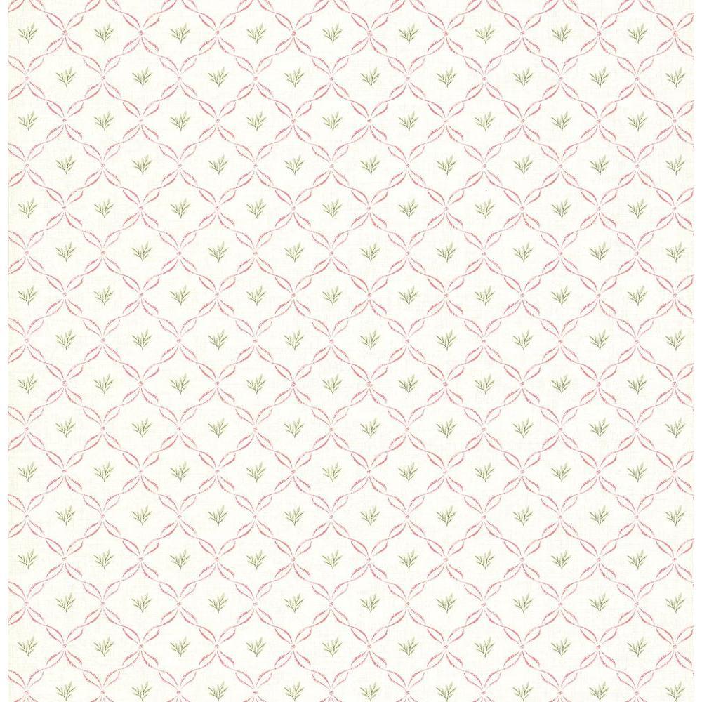 Brewster 8 in. W x 10 in. H Trellis Print Wallpaper Sample