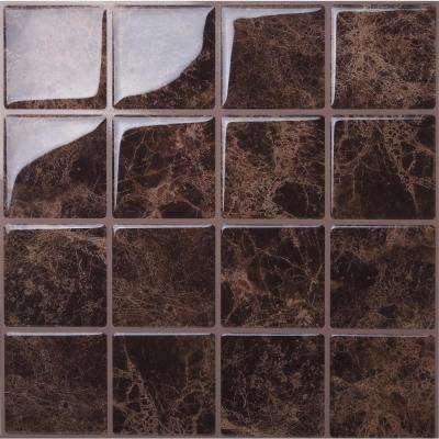 Marmo Marte 10 in. W x 10 in. H Peel and Stick Self-Adhesive Decorative Mosaic Wall Tile Backsplash (5-Tiles)