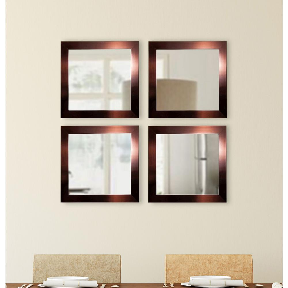 15 5 in x 15 5 in shiny bronze square wall mirrors set for 4 x 5 wall mirror