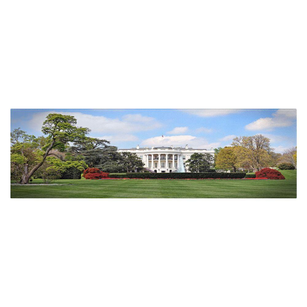 16 in. x 32 in. White House, South Lawn Canvas Art