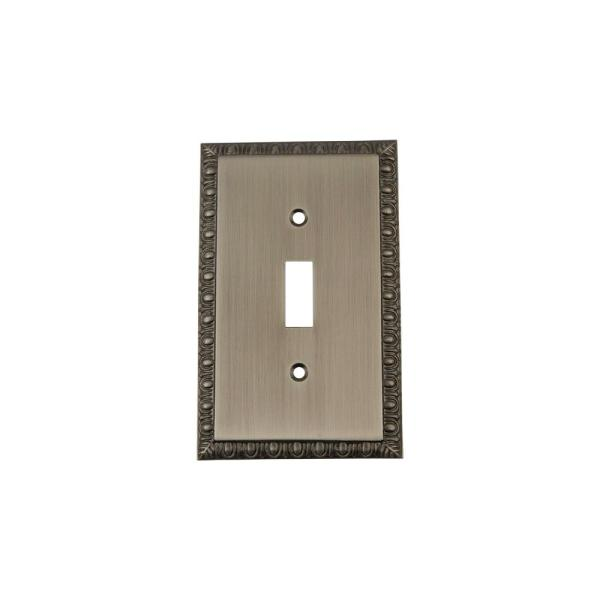 Nostalgic Warehouse Pewter 1 Gang Toggle Wall Plate 1 Pack 719782 The Home Depot