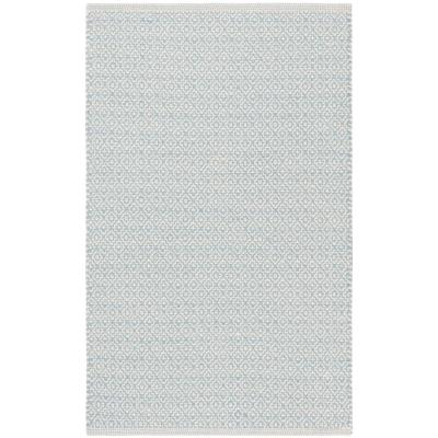 Montauk Ivory/Light Blue 2 ft. 6 in. x 4 ft. Area Rug