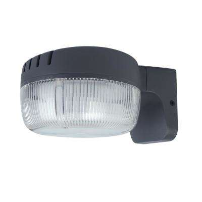 Bronze Outdoor Integrated LED Dusk-to-Dawn Flood Light